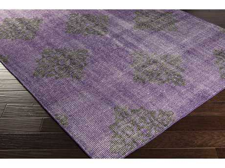 Surya Zahra Rectangular Violet & Black Area Rug