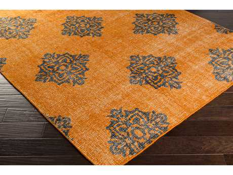 Surya Zahra Rectangular Burnt Orange & Black Area Rug