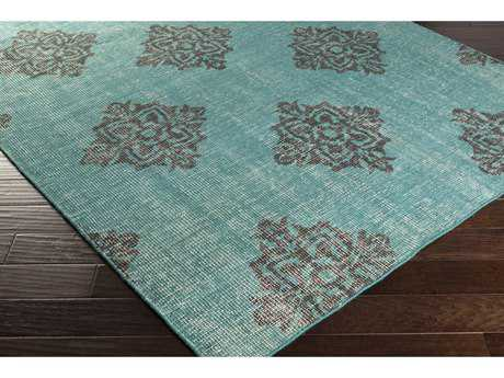 Surya Zahra Rectangular Emerald & Black Area Rug