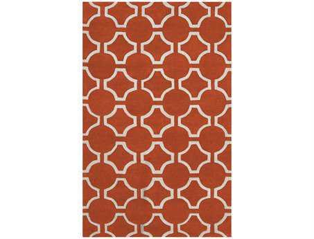 Surya Zuna Rectangular Orange Area Rug