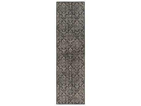 Surya Zanzibar 2'3'' x 7'9'' Rectangular Charcoal Runner Rug