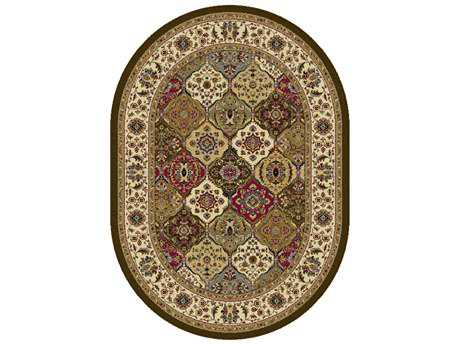Tayse Rugs Laguna Manchester Oval Multi-Color Area Rug