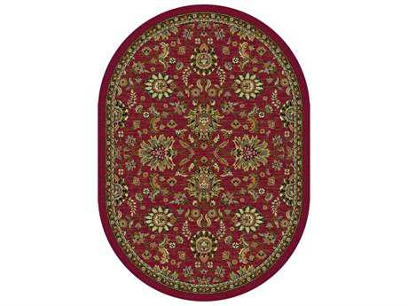 Tayse Rugs Laguna Leanna Oval Red Area Rug
