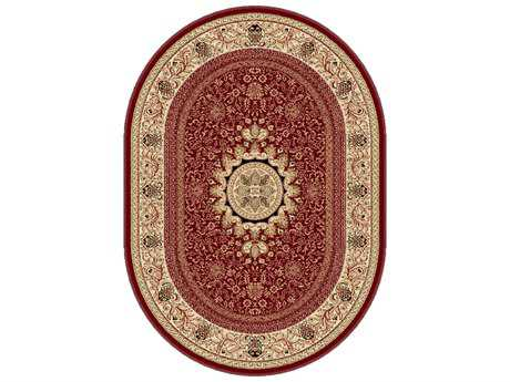 Tayse Rugs Sensation Jayden Oval Red Area Rug