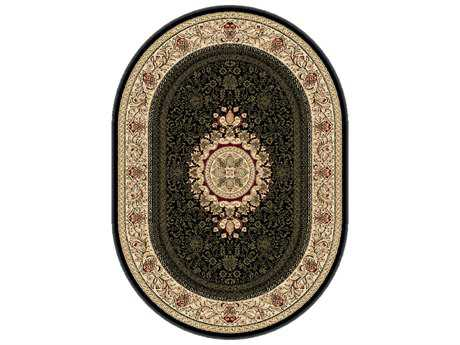 Tayse Rugs Sensation Jayden Oval Black Area Rug