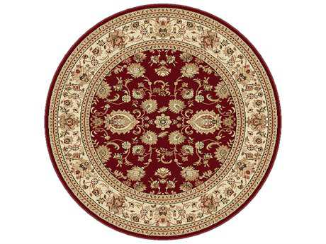 Tayse Rugs Sensation Gabrielle Round Red Area Rug