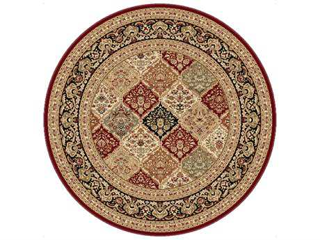 Tayse Rugs Sensation Princeton Round Red Area Rug
