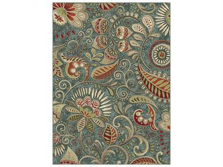 Tayse Rugs Capri Giselle 5'3'' x 7'3'' Rectangular Green Area Rug
