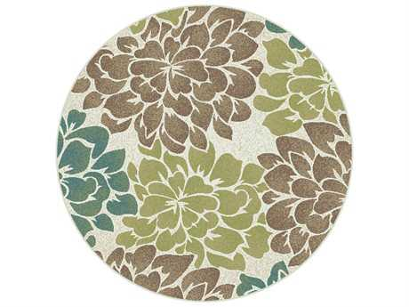 Tayse Rugs Deco Molly Round Ivory Area Rug