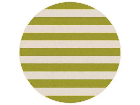 Tayse Rugs Garden City Florence Round Green Area Rug