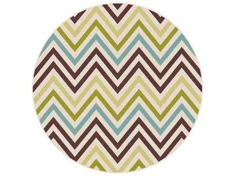 Tayse Rugs Garden City Tyler 7'10'' Round Multi-Color Area Rug