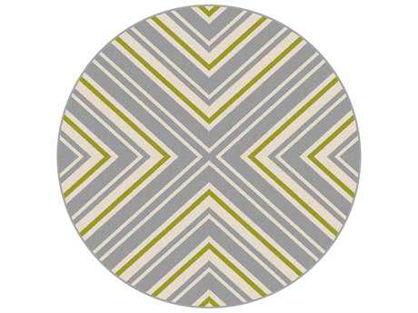 Tayse Rugs Garden City Charley 7'10'' Round Gray Area Rug