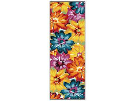 Tayse Rugs Symphony Zinnia Rectangular Multi-Color Runner Rug