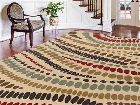 Tayse Rugs Laguna Allie Rectangular Beige Area Rug