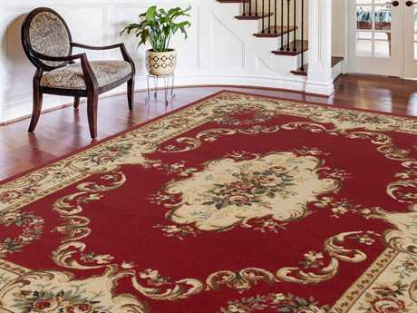 Tayse Rugs Laguna Angeline Rectangular Red Area Rug