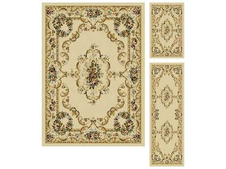 Tayse Rugs Laguna Angeline Rectangular Beige Area Rug Set
