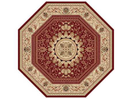 Tayse Rugs Sensation Jayden Octagon Red Area Rug