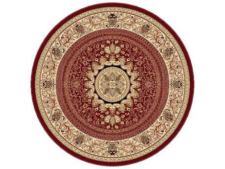Tayse Rugs Sensation Jayden Round Red Area Rug