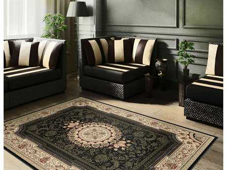 Tayse Rugs Sensation Jayden Rectangular Black Area Rug