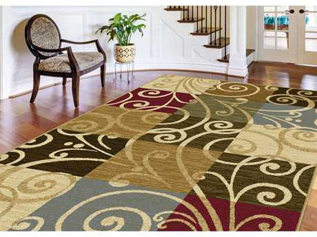 Tayse Rugs Laguna Carmen Rectangular Multi-Color Area Rug