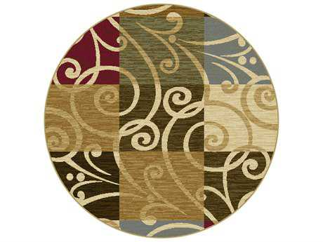Tayse Rugs Laguna Carmen Round Multi-Color Area Rug