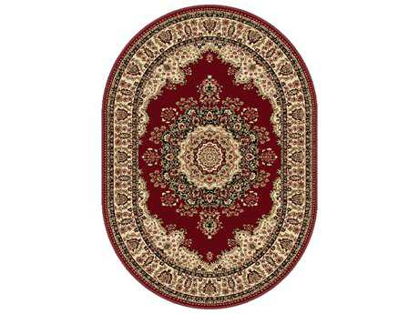Tayse Rugs Sensation Fiona Oval Red Area Rug