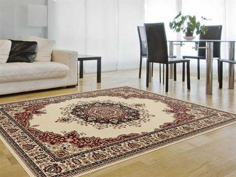 Tayse Rugs Sensation Fiona Rectangular Beige Area Rug