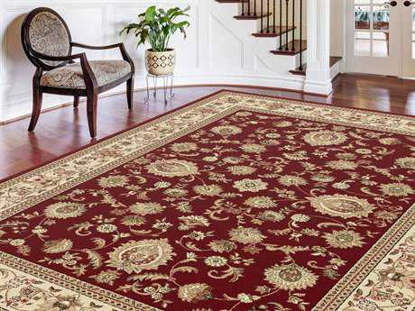 Tayse Rugs Sensation Gabrielle Rectangular Red Area Rug