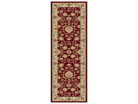 Tayse Rugs Sensation Gabrielle Rectangular Red Runner Rug