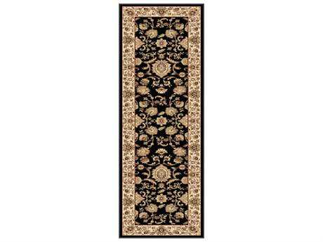 Tayse Rugs Sensation Gabrielle Rectangular Black Runner Rug