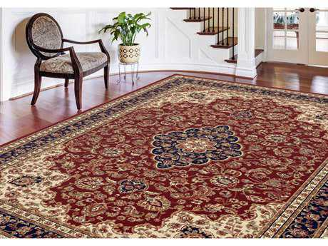 Tayse Rugs Sensation Kirsten Rectangular Red Area Rug