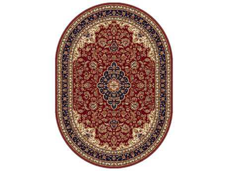 Tayse Rugs Sensation Kirsten Oval Red Area Rug