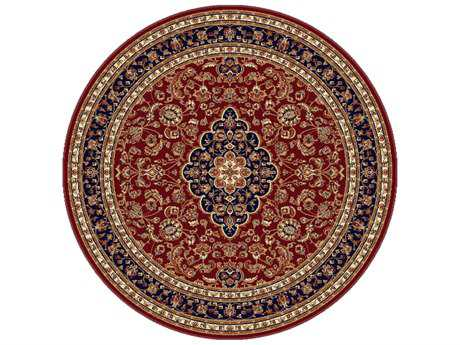 Tayse Rugs Sensation Kirsten Round Red Area Rug