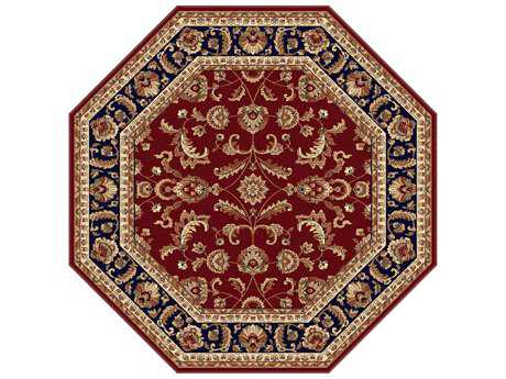 Tayse Rugs Sensation Sariya Octagon Red Area Rug