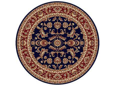 Tayse Rugs Sensation Sariya Round Navy Blue Area Rug