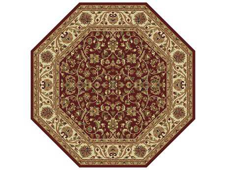 Tayse Rugs Sensation Ventura Octagon Red Area Rug