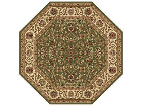 Tayse Rugs Sensation Ventura Octagon Green Area Rug