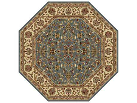 Tayse Rugs Sensation Ventura Octagon Blue Area Rug