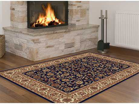 Tayse Rugs Sensation Ventura Rectangular Navy Blue Area Rug