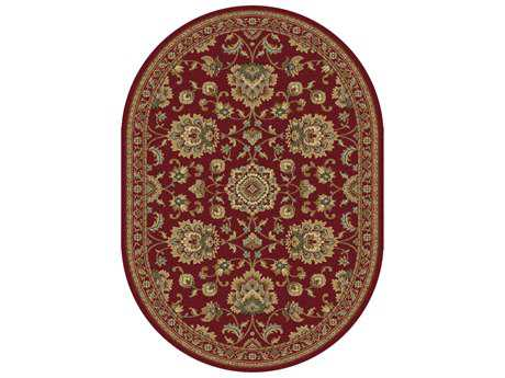 Tayse Rugs Sensation Charlotte Oval Red Area Rug