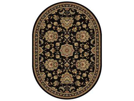 Tayse Rugs Sensation Charlotte Oval Black Area Rug