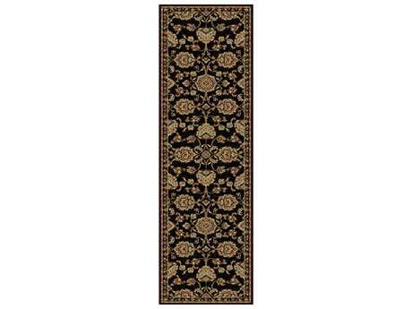 Tayse Rugs Sensation Charlotte Rectangular Black Runner Rug