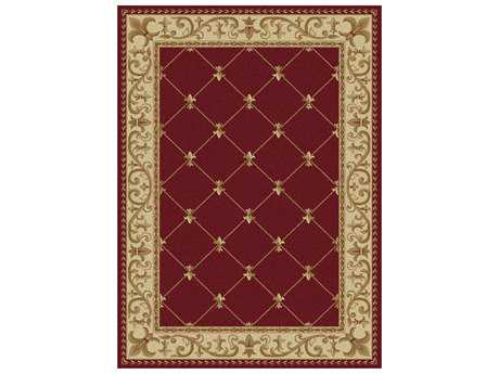 Tayse Rugs Sensation Orleans Rectangular Red Area Rug