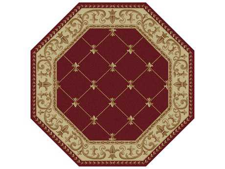 Tayse Rugs Sensation Orleans Octagon Red Area Rug