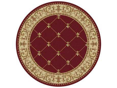 Tayse Rugs Sensation Orleans Round Red Area Rug