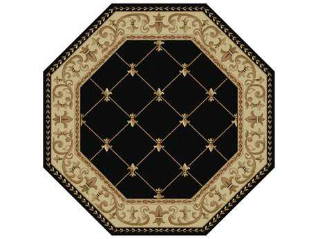 Tayse Rugs Sensation Orleans Octagon Black Area Rug