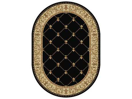 Tayse Rugs Sensation Orleans Oval Black Area Rug