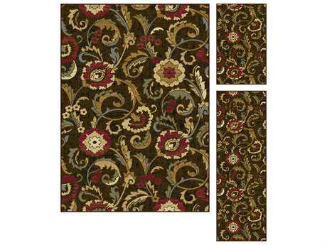 Tayse Rugs Laguna Wichita Rectangular Brown Area Rug Set