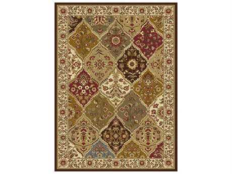 Tayse Rugs Elegance Cambridge Rectangular Brown Area Rug