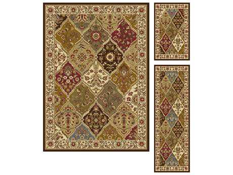 Tayse Rugs Elegance Cambridge Rectangular Multi-Color Area Rug Set